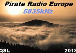 e-QSL Radio Pirate Europe Украина Август 2018 год
