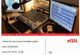 e-QSL IBC Italian Broadcasting Corporation Май Октябрь 2018 года