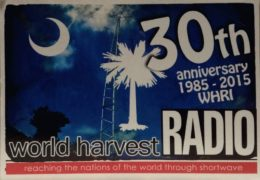 QSL World Harvest Radio T8WH США Палау Июль Август 2018 года