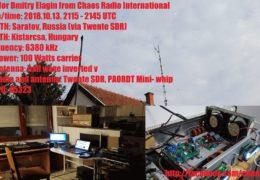 e-QSL Chaos Radio Венгрия Октябрь 2018 года