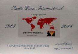 QSL Radio Waves International Франция Ноябрь 2018 года