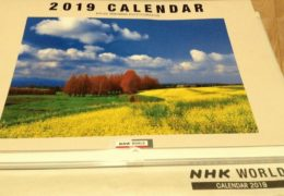 2019 Calendar Radio Japan NHK World Япония