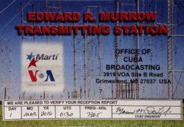 QSL Radio Marti США 2016 год