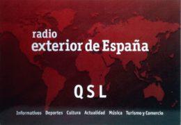 QSL Radio Exterior de Espana Испания Октябрь 2018 года