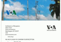 e-QSL Radio Sawa Кипр Март 2019 года