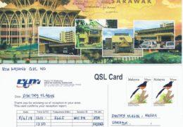 e-QSL RTM Wai FM Малайзия Апрель 2019 года