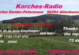 e-QSL Korches Radio Германия Июнь 2019 года