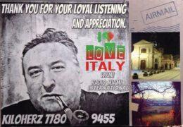 QSL I love Italy WRMI Италия Июнь 2019 года