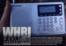 QSL WHRI США World Harvest Radio Июнь 2020 года