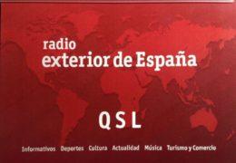 QSL Radio Exterior de Espana Испания Март Апрель 2019 года