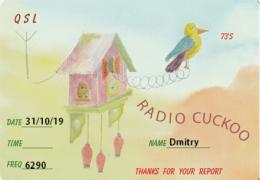 e-QSL Radio Cuckoo Ирландия Октябрь 2019 года