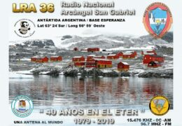 e-QSL LRA 36 Radio Nacional Arcangel San Gabriel Антарктика Октябрь 2019 года