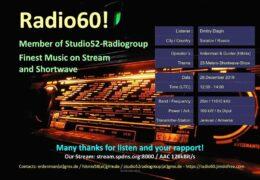 e-QSL Radio 60 Shortwave Show Армения Декабрь 2019 года