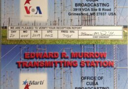 QSL Radio Marti США Ноябрь 2019 года