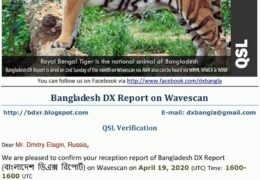 e-QSL Bangladesh DX Report AWR Wavescan Апрель 2020 года