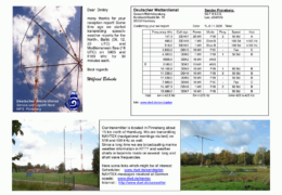 e-QSL Deutscher Wetterdienst Германия Апрель Ноябрь 2020 года