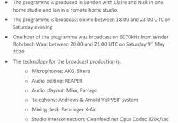 e-QSL Flamethrower Radio Германия Май 2020 года