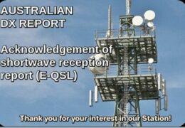 e-QSL Australian DX Report AWR Wavescan Май 2020 года