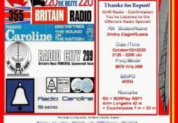 e-QSL Offshore History Radio Германия Октябрь 2020 года