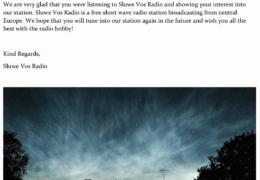 e-QSL Sluwe Vos Radio Нидерланды Сентябрь 2020 года