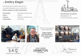e-QSL SAQ Grimeton Швеция Октябрь 2020 года