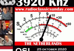 e-QSL Radio Classic Sunday Нидерланды Октябрь 2020 года