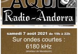 e-QSL Radio Andorra Австрия Август 2021 года